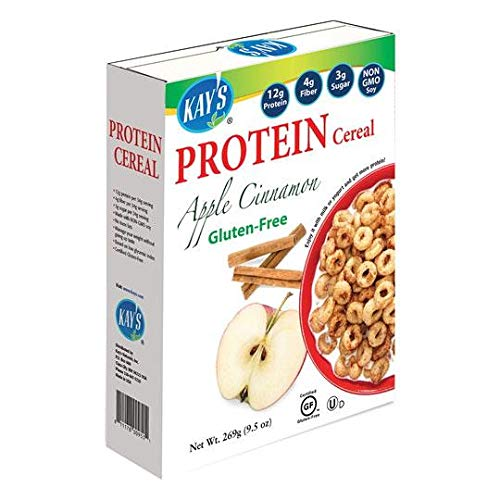 Kay's Naturals - Apple Cinnamon - High Protein Gluten Free Cereal (9.5-oz Box)