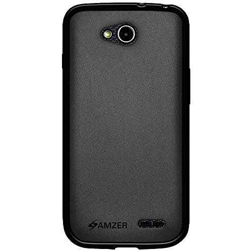 Amzer Pudding Soft Gel TPU Skin Case Back Cover for LG Optimus L90 D415/L90 - Retail Packaging - Black