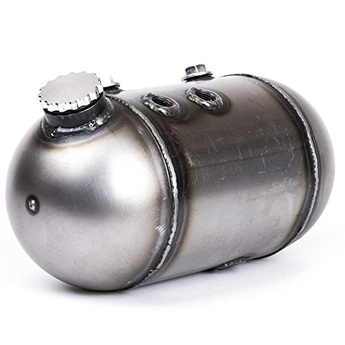 Bison Motorsports Oil Bag - Round Side Fill Dome/Pill Style Oil Tank for Harley Sportsters, Bobbers or Choppers ()