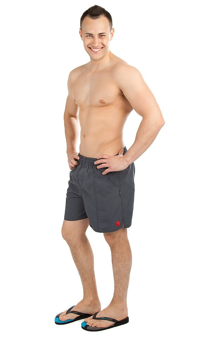 Solids Men's Swimming Shorts, Grey, X-Small