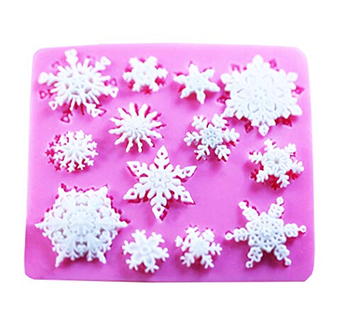 - SaSa Design 3D Christmas Snowflake Mold Lace chocolate Party DIY fondant baking cooking cake decorating tools silicone mold (Snowflake Mold)
