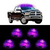 CCIYU 5x Smoke Cab Marker Clearance Light +T10 Pink led For 1988-2000 Chevrolet C2500 C3500 K1500 K2500 C1500 K3500 1988-2000 GMC C1500 C2500 C3500 K1500 K2500 K3500 etc