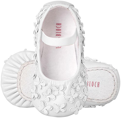 Bloch Shoe Baby Papillon Flat, White, 5 M US Toddler (Bloch Infant Shoes)