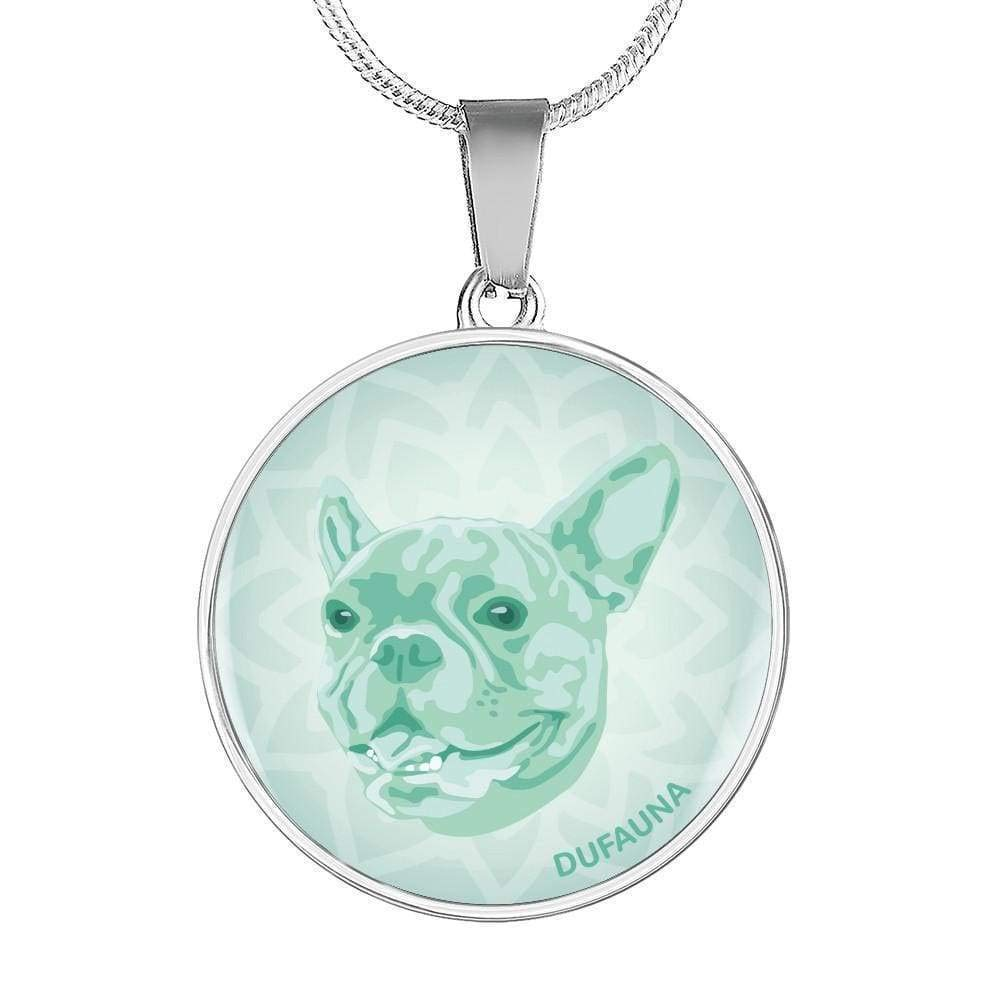 DuFauna Mint French Bulldog Necklace D1 Many Colors 18-22 Steel or 18k Gold Finish