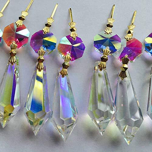 Crystal Drops Pendant | Chandelier Parts/Prisms Hanging | Lighting Accessories 10pcs /lot