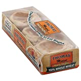 Thomas' 100% Whole Wheat English Muffins, 12 pack, (6 count)
