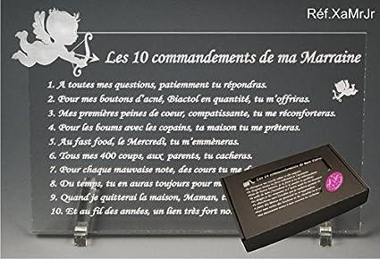 Les 10 Commandements De Marraine Ange Texte Junior Cadeau Baptême Communion