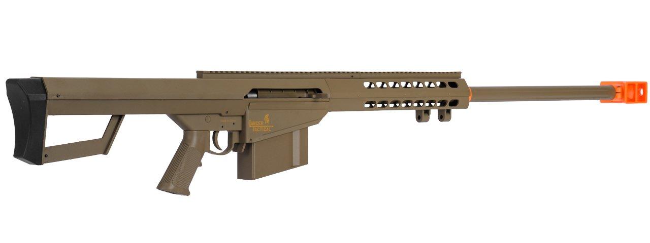 Lancer Tactical M82 50 Cal Spring Airsoft Sniper Rifle Gun Marksman FPS 435 (Tan) by Lancer Tactical (Image #2)