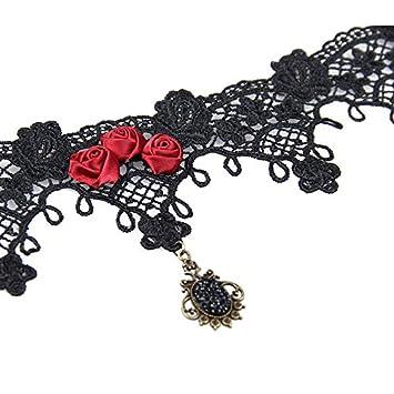 Choker Damen Retro Lolita Gothic Spitze Spitze False Halsband Choker 10 Stil
