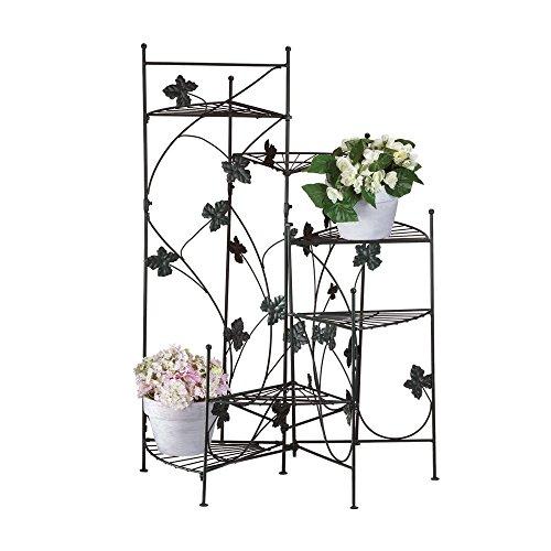 Ivy Design Metal Staircase Plant Stand Decor Garden (Metal Ivy Design)
