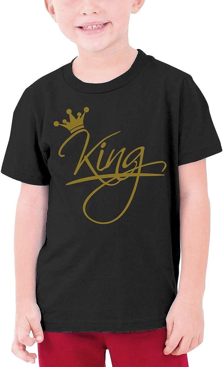 King Writing On The Crown Boy Short-Sleeved Shirt