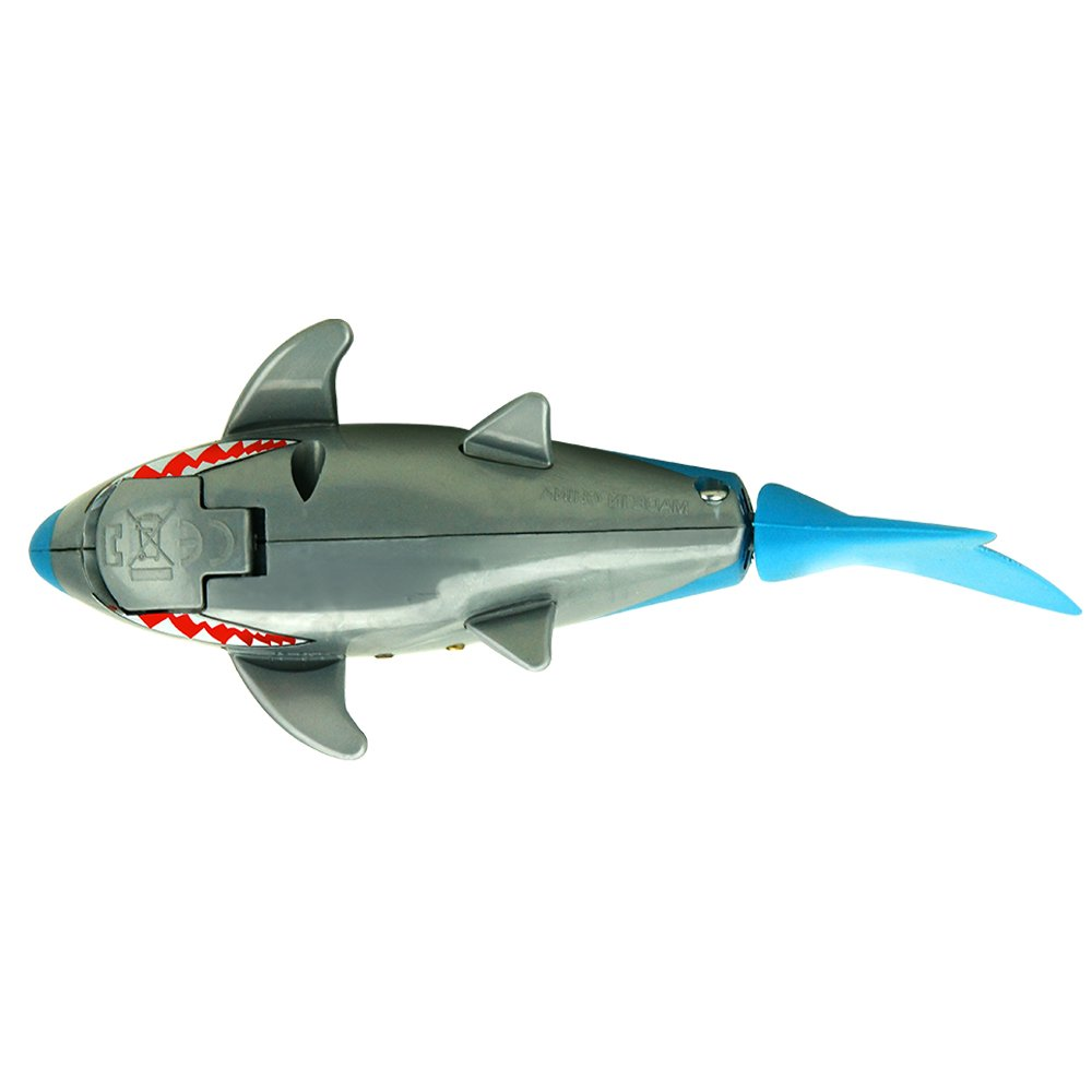 Sowofa Remote Control Rc Shark Electronic Toy Fish Ocean Fm Transmitter Simple By Va3avr Animal Model Mini Radio Boat For Kids Toddler Children 27 40mhz Toys Games