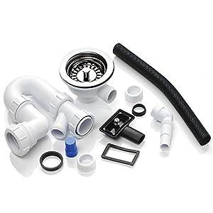 Mcalpine 1.0 Bowl Basket Strainer Waste & Plumbing Kit (Overflow) WPAK2NP