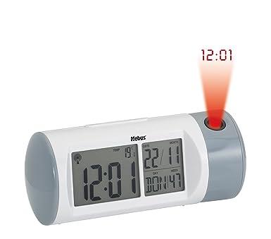 Radio despertador con proyector Mebus, digital, de voz y control ...
