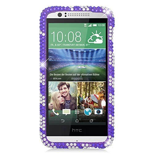 Htc Diamond Design Snap (Eagle Cell Diamond Protector Case for HTC Desire 510 - Retail Packaging - Purple)