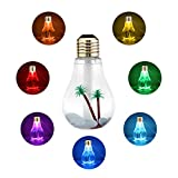 Mini USB Humidifier 400ML Portable Diffuser Bulb Shape Cool Mist Humidifiers with 7 Color Nightlight for Baby Home Office – Gold