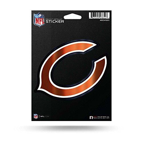 (Rico Industries NFL Chicago Bears Die Cut Metallic StickerDie Cut Metallic Sticker, Blue, 5.75 x 7.75-inches)