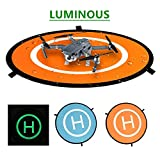 Westmell Luminous Drones Landing Pad 75cm/30'', Universal Waterproof Foldable Landing Pads Helipad for RC Drones Helicopter, PVB Drones, DJI Mavic Air Pro Phantom 2/3/4/Pro, Antel Robotic, 3DR Solo