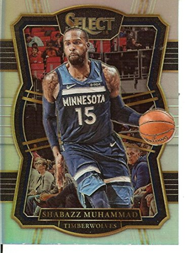 2017-18 Select Silver Prizms #116 Shabazz Muhammad Premier Level Timberwolves