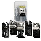 15 Piece Variety Pack Wood/Metal/Plastics Oscillating Multi-Tool Quick Release Saw Blades for Bosch, Craftsman, DeWalt, Dremel, Fein, Ridgid, TCH, Makita, Milwaukee, Rockwell