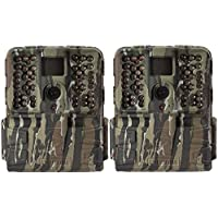 Moultrie S-50i 20MP 80 FHD Video No Glow Infrared Game Trail Camera (2 Pack)
