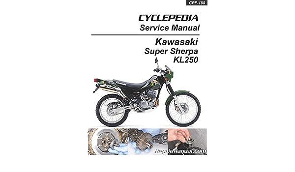 CPP-188 KL250 Super Sherpa Kawasaki Motorcycle Service ... on
