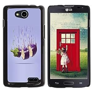 YOYOYO Smartphone Protección Defender Duro Negro Funda Imagen Diseño Carcasa Tapa Case Skin Cover Para LG OPTIMUS L90 D415 - asfixia la berenjena