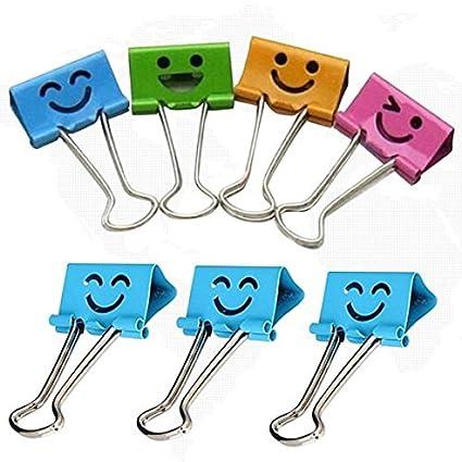 amazon com 10pcs smile metal binder clips notes letter paper books