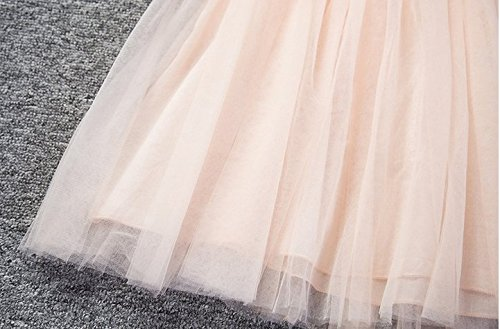 Baby Girls Sleeveless Lace Wedding Vintage Birthday Party Princess Flower Dress 3T(Tag 120) Pink by EGELEXY (Image #6)