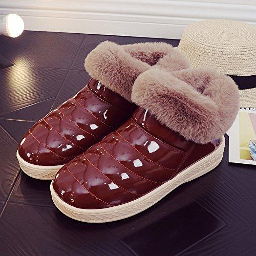 Inverno fankou cotone pantofole pacchetto femmina con un soggiorno al coperto e gli amanti della vita all'aperto caldo antiscivolo scarpe di cotone uomini e ,40/41, caffè