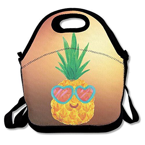 Pineapple With Heart Sunglasses Portable Lunch Bag Lunch Organizer Tote Bags Travel Picnic Food Lunch Box Lunch Container For Women Men Girls Boys - Sunglass Manufacturers