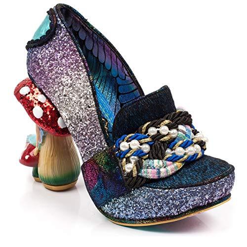 Irregular Choice Hazel Corntree Faerie Heel Glitter Pump Blue, 36 -