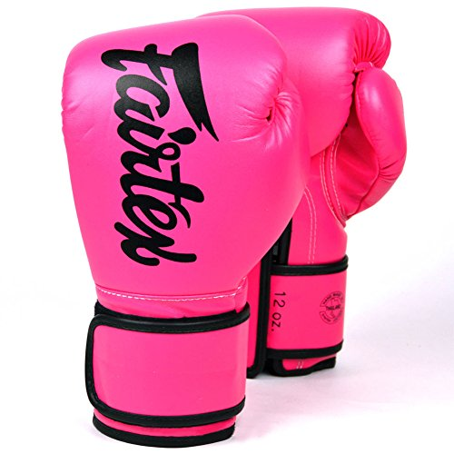 Fairtex BGV14 Microfibre Boxing Gloves Muay Thai Boxing, MMA, Kickboxing,Training Boxing Equipment, Gear for Martial Art (Pink, 16 oz)