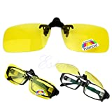 Luoxxxka Polarized Sunglasses Driving Goggles Day Night Vision Clip-on Flip-up Lens Sunglasses