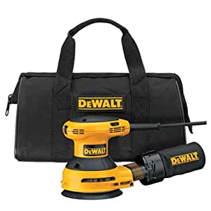 DEWALT D26453K 3 Amp 5-Inch Variable Speed Random Orbit Sander Kit with Cloth Dust Bag