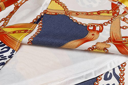 Donkap Robe Sans Manches Imprimé Floral Robe En Mousseline De Soie Réservoir De Femmes Été Parti Jaune