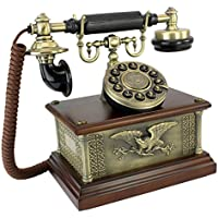 Design Toscano Antique Phone - Presidents American Eagle 1910 Rotary Telephone - Corded Retro Phone - Vintage Decorative Telephones