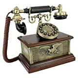 Antique Phone - Presidents American Eagle 1910 Rotary Telephone - Corded Retro Phone - Vintage Decorative Telephones
