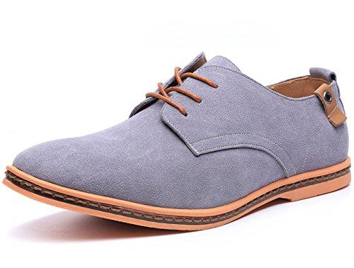Dadawen Men's Grey Leather Oxford Shoe - 10.5 D(M) US