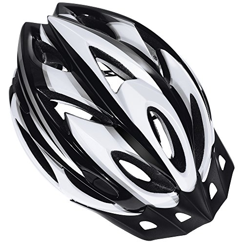 Zacro Adult Bike Helmet, CPSC Certified Cycle Helmet, Specialized for Mens Womens Safety Protection-Black Plus White, Bonus with a Headband