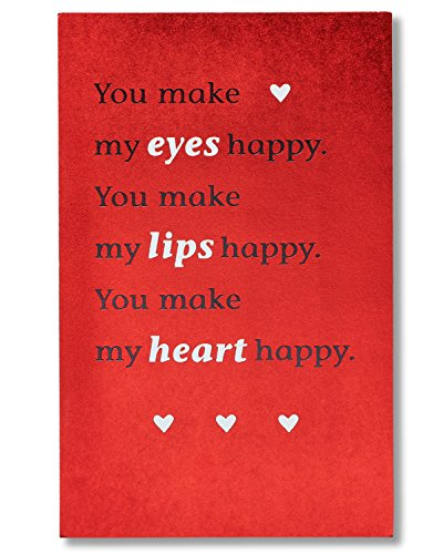 American Greetings You Make My Eyes Happy Funny Valentine's Day Card with Foil