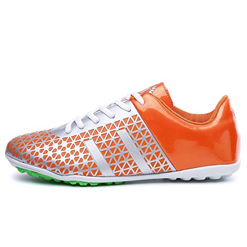 XING Lin Fußball Schuhe Fußball Schuhe männlich Broken Nails Professional Training Schuhe Leder Kunstrasen Kinder Damen und Herren Fußball Schuhe Sport Schuhe Orange