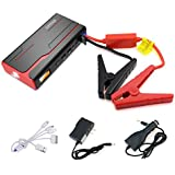 Arteck 600A Peak Car Jump Starter (Up to 7.0L Gas or 6.5L Diesel) Auto Battery Booster and 18000mAh Portable External Battery Charger for Automotive, Boat, Phone with Adaptors, 12V Jump Leads, LED