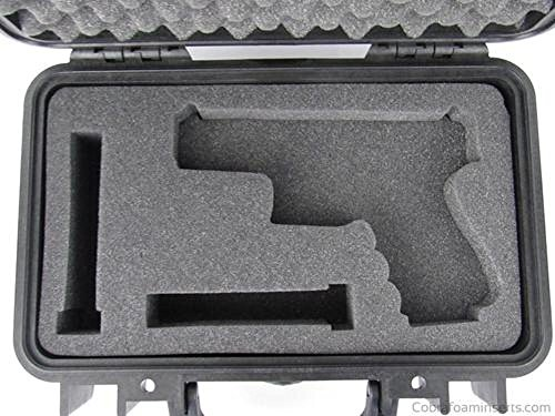 Pelican Case 1170 Replacement Foam Insert for Glock 19 Handgun & 2 magazines Custom(FOAM ONLY) by Cobra Foam Inserts