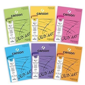Canson 400100166 Crobart Bloc De Papier à Dessin Collé Petit Côté