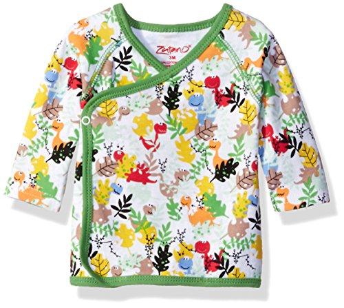 Zutano Baby Printed Kimono Top, Dino Camo, 6 - Camo Zutano