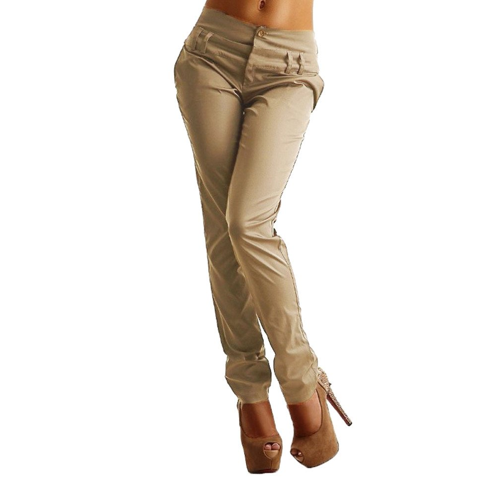 TIMEMEANS New Women Fashion Casual Pretty Pants Ladies High Waist Outdoor Home Daily Trousers