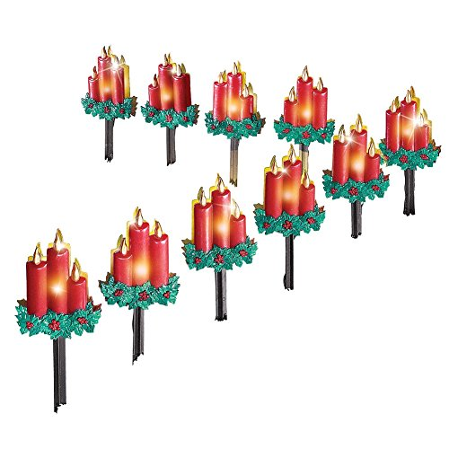 Christmas Candle Path Lights