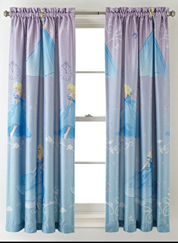 (Princess Disney Cinderella Room-Darkening Window Panel Drape -)