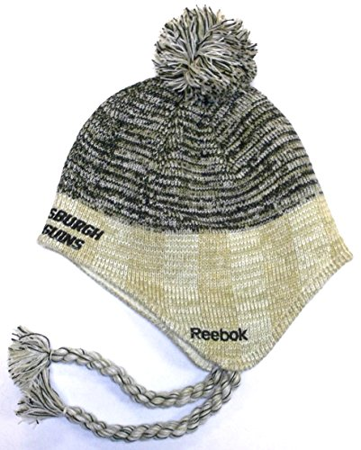 Reebok Pittsbrugh Penguins Lifestyle Tassle Knit Hat One Size Fits All